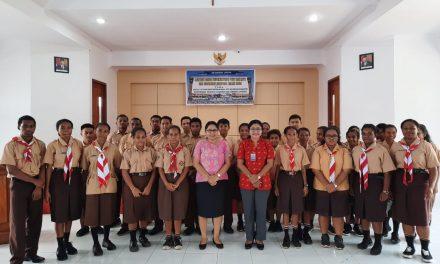 Latihan Dasar Kepemimpinan ,Siswa SMA Gabungan Jayapura Didorong Jadi Pemimpin Berkarakter Kristen