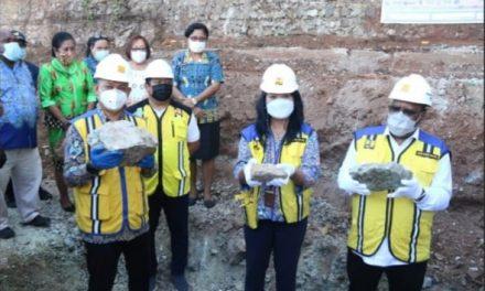 John Wempi Wetipo Lakukan Peletakan Batu Pertama Sekolah SMA Gabungan Jayapura